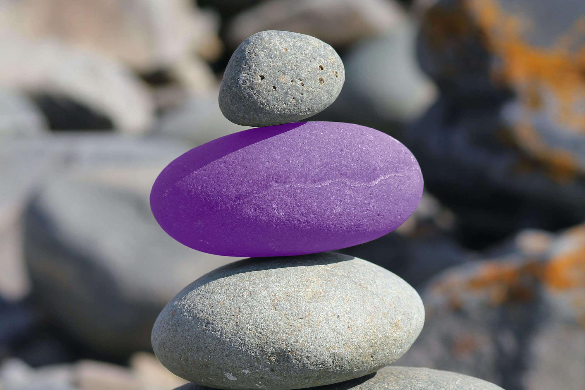 Stones - one purple